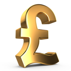 Stock GBP symbol